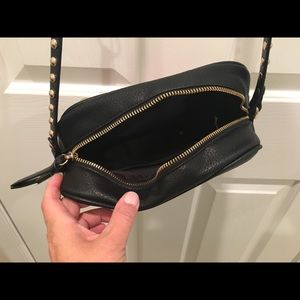 Steve Madden Bags - Black Crossbody Bag w/ Embroidered Front